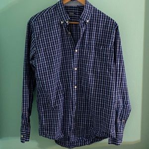 Izod Brand Blue Button Down Shirt Size S